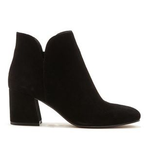 Vince Camuto black suede ankle boots
